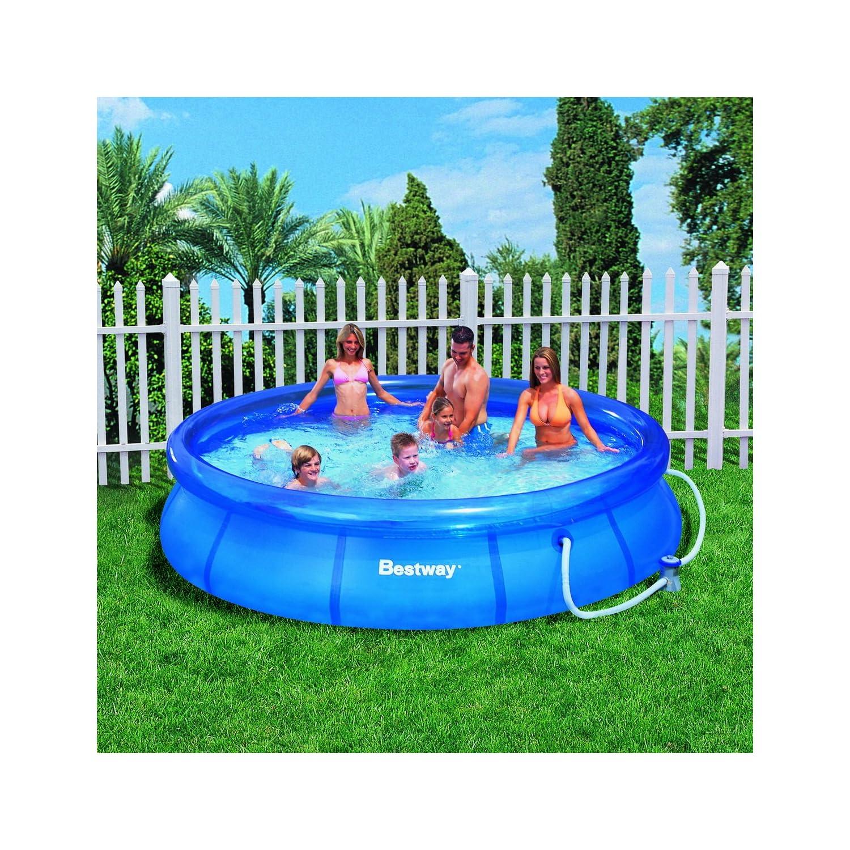 New 12 foot ft clear fast set pool swimming paddling for Fast set gartenpool