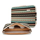 Kayond Canvas Water-Resistant 15 inch Laptop Sleeve Pocket 15 inch 15.6 inch Laptop Case (15-15.6 inches, New Bohemian) (Color: New Bohemian, Tamaño: 15-15.6 inches)