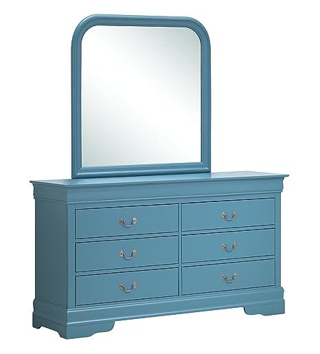 Glory Furniture G3180-D Bedroom Dresser, Teal