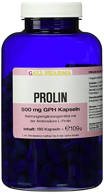 Gall Pharma Prolin 500 mg GPH Kapseln 180 Stuck