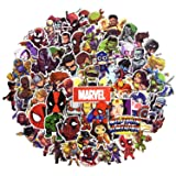 Laptop Sticker Pack 100 Pcs,Sanmatic Superhero Sticker Unique Cool Stickers Waterbottle Notebook Guitar Skateboard Travel Kid Adults Stickers Waterproof … (Color: super)