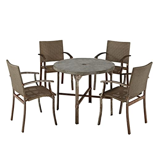 Home Styles 5670-308 Urban Outdoor 5-Piece Dining Set
