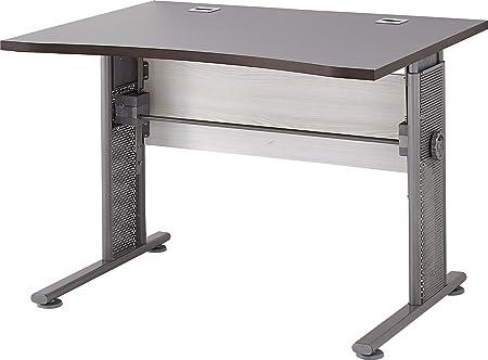 Germania 0651-230 höhenverstellbarer Schreibtisch in Lärche-/Eiche-Havanna-Nb., 80 x 100 x 70 cm