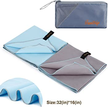 2-Pk. Fazitrip Quick Drying Towel w/Carry Mesh Bag