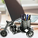 Metal Desk Pencil holder, Handmade Creative Metal Crafts office desktop Storage accessories, Harley Davidson metal pen Pencil holder, Perfect Cute gift idea