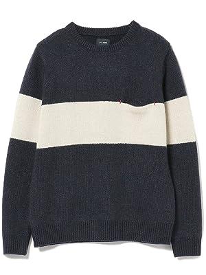BEAMS(ビームス) (ビームス)BEAMS/ニット セーター 配色ライン クルーネック ニット メンズ