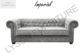 IMPERIAL - 3 or 2 Seater - Fabric (CHESTERFIELD) (3 Seater, Graphite)