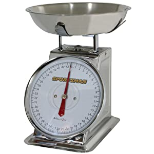 44-Pound Stainless Steel Dial Scale