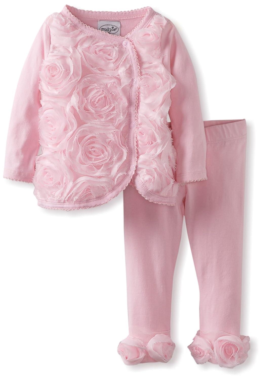 Mud Pie Baby-Girls Newborn Rosette Kimono Set