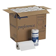 "Georgia-Pacific Preference 27300 White 2-ply Perforated Paper Towel Roll, 8.8"" Length x 11"" Width (Case of 30 Rolls, 100 per Roll)"
