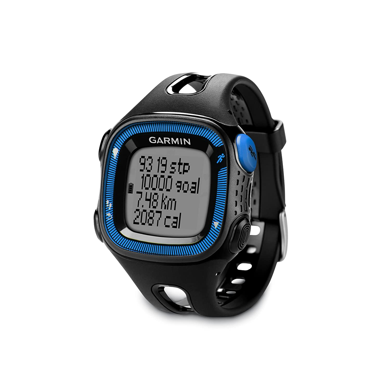 Garmin Forerunner 15 Large, Black/Blue (Certified Refurbished)