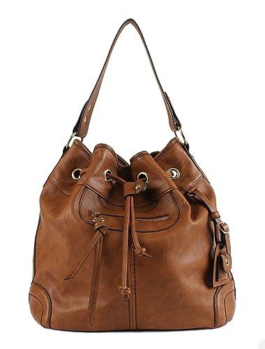 Scarleton Large Drawstring Handbag H107804 – Brown