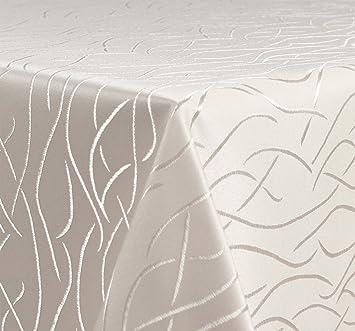 tischdecke damast streifen wellen b gelfrei eckig oval rund gr e und farbe w hlbar oval. Black Bedroom Furniture Sets. Home Design Ideas