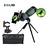 ESSLNB Spotting Scope with Tripod Cell Phone Adapter 25-75 X 70 BAK4 Monocular Telescope 45 Degree Angled Waterproof Spotting Scopes for Target Shooting Hunting Bird Watching (Color: 25-75X70 Angled Spotting Scope)