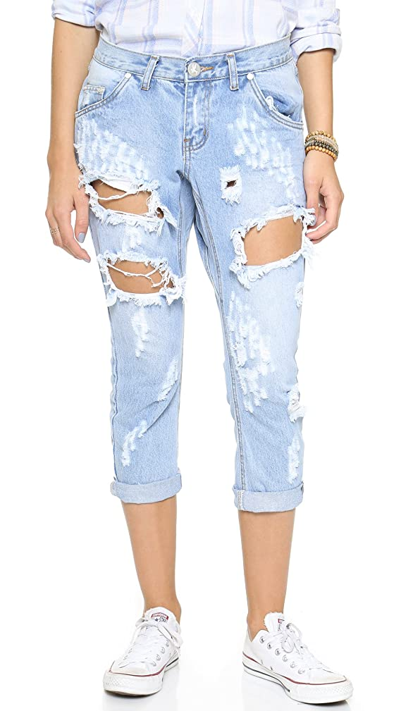 One Teaspoon Women's Hustler Lonely Boys Jeans
