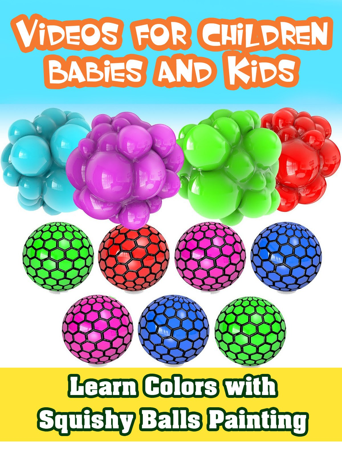 Learn Colors with Squishy Balls Painting