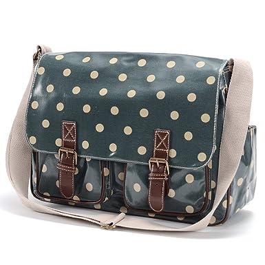 Oilcloth Polka Dots Crossbody Saddle Bag Satchel Shoulder Messenger 33