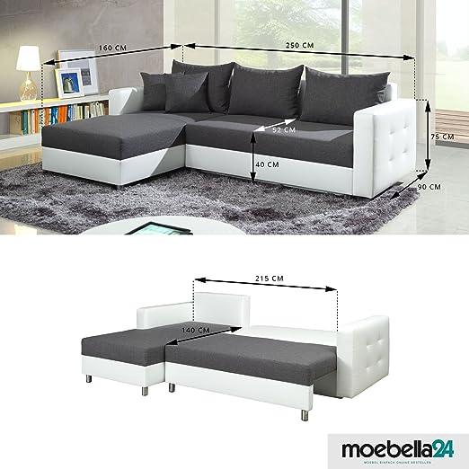 polsterecke sofa aron mit schlaffunktion schlafsofa schlafcouch. Black Bedroom Furniture Sets. Home Design Ideas