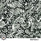 Hydrographic Film-Hydro Dipping-Flower Hydro dip 1M Length for DIY 13 Designs for Choosing (028-3) (Color: 028-3)