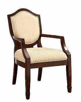 Furniture of America Teasel Fabric Armchair, Walnut