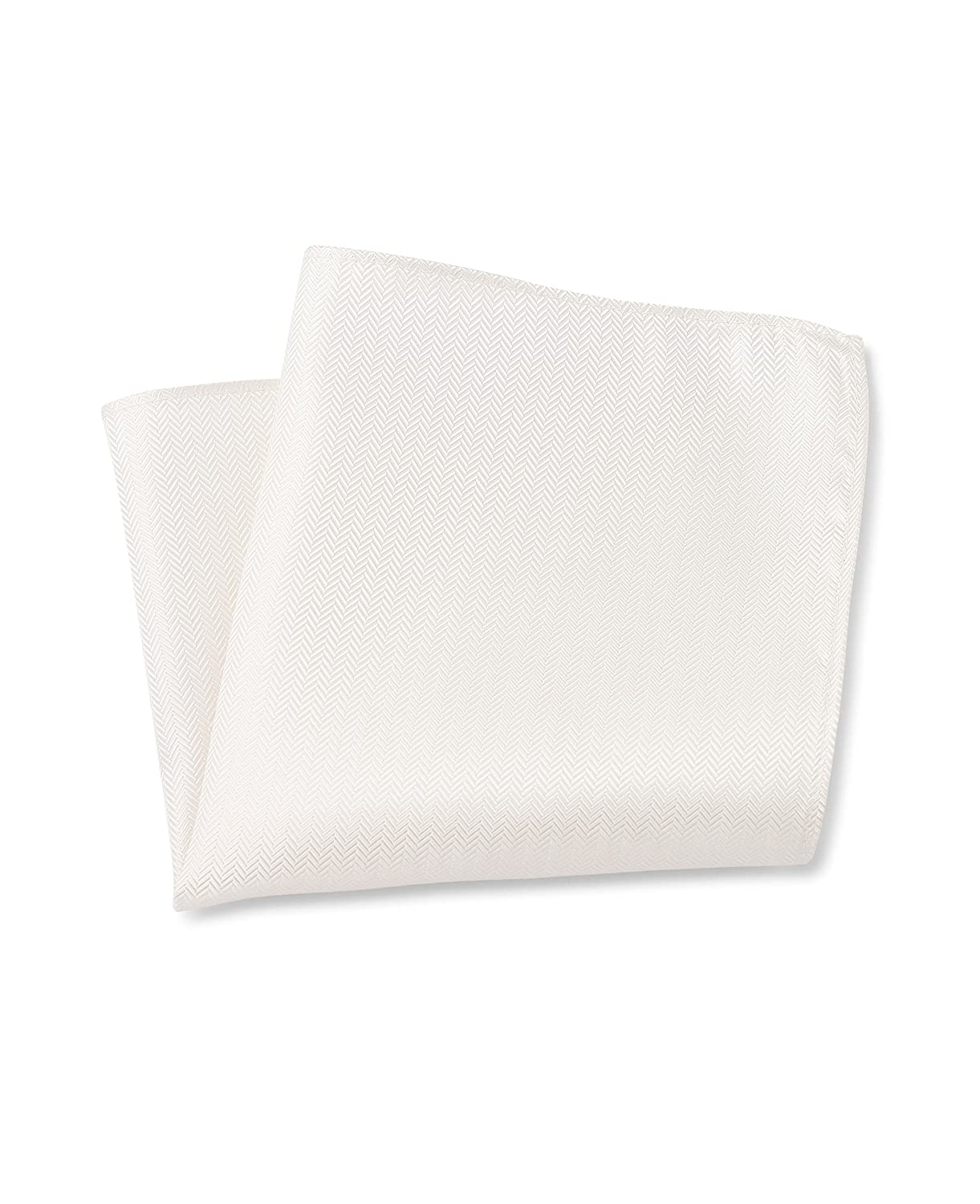 Savile Row Men's Cream Herringbone Silk Pocket Square рубашка savile row цвет бордовый