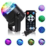 Party Lights, Ucio Stage Lights, Sound Activated Disco Ball with Remote Control Disco Dj Lighting, RBG Disco Lights, 7 modes Party Light for Birthday Party,DJ Bar Karaoke Ballroom