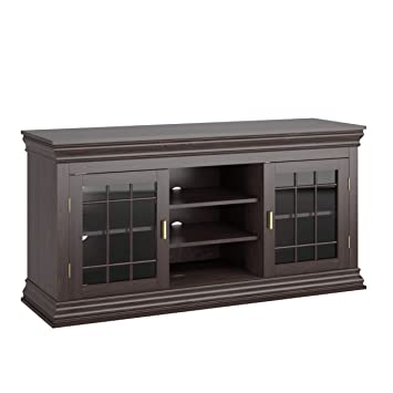 Corporate Images TCN132B / TCN-132-B / TCN-132-B 68 Dark Wood Veneer TV Stand