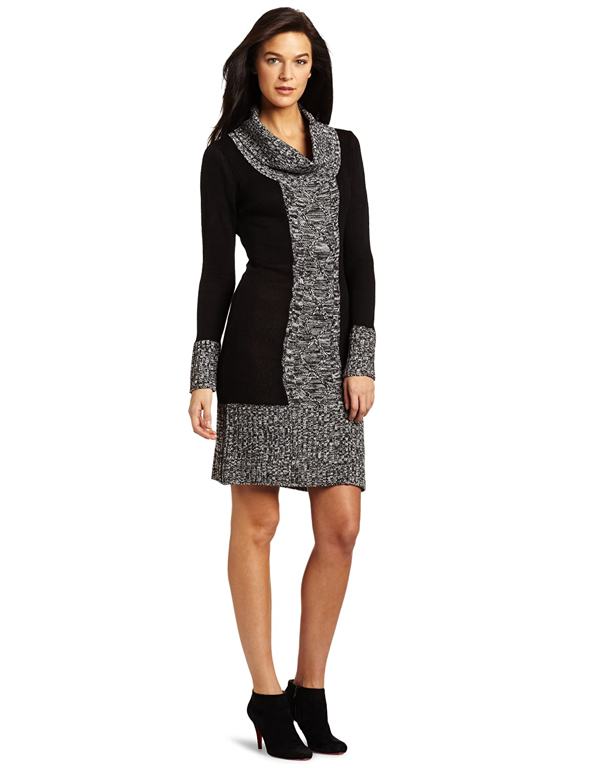 Sweater Dresses for Women If you're looking for the perfect fall dress or need an outfit for a holiday party at work or with the family, a sweater dress is a go-to staple. Grab a long sweater dress and pair with boots and a scarf for a cute fall outfit, or stick with a red, green or white sweater .
