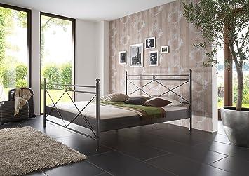 SAM® Metallbett 160 x 200 cm Imola in schwarz filigrane Verzierungen Blickfang Lieferung per Spedition mit telefonischer Avisierung