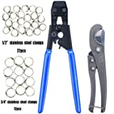 JWGJW Pex Cinch Clamp Fastening Tool with a cutting tool,with 1/2