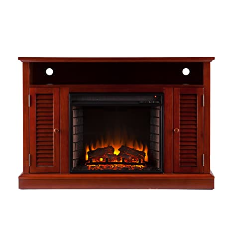 Southern Enterprises Adelaide Media Fireplace, Classic Mahogany