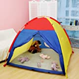 WolfWise Play Tent Indoor Outdoor Beach Tent Sun Shelter 4 Kids Play House with Two Tunnel Entrance, 59