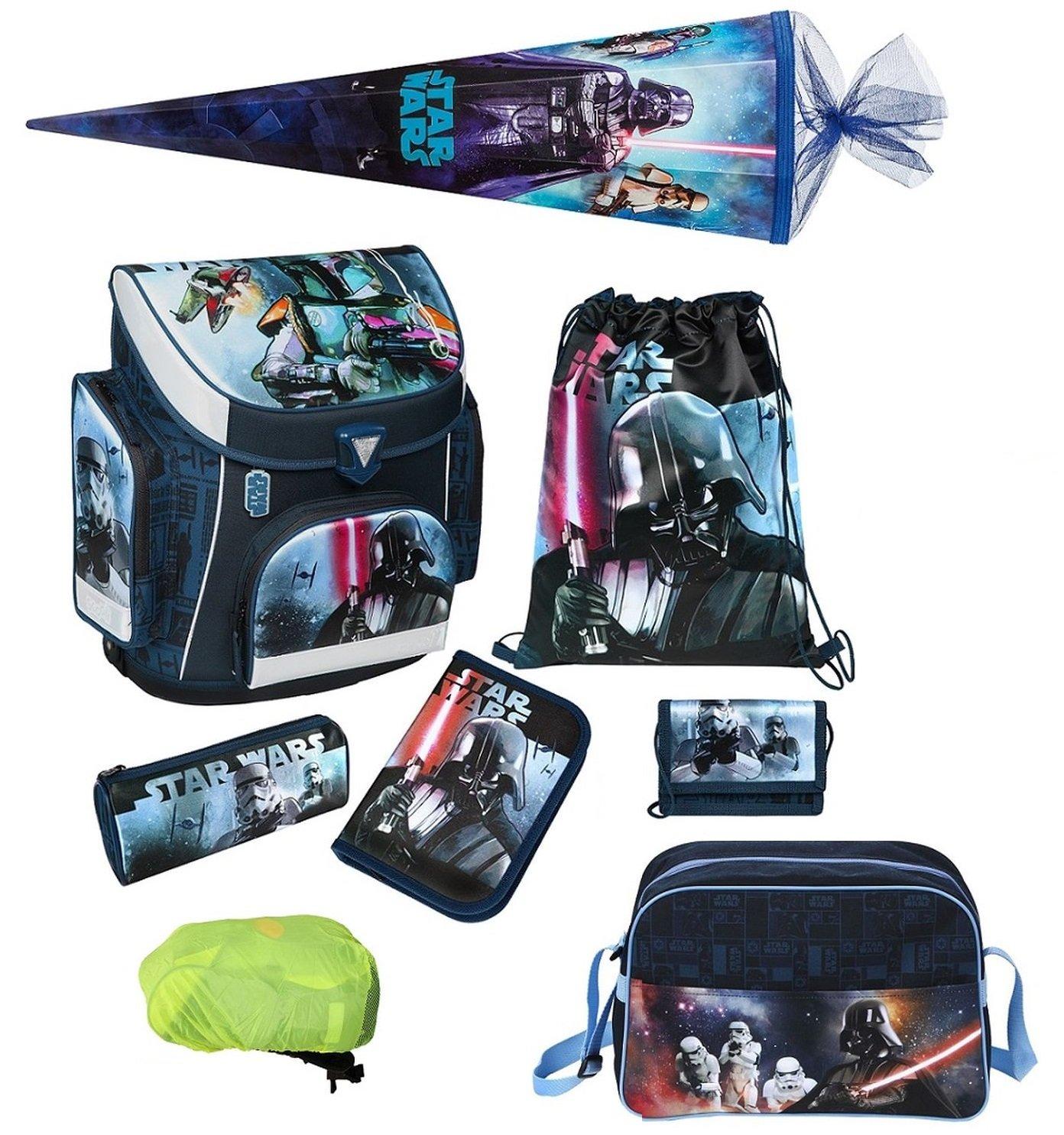 Star Wars Schulranzen Set 8tlg. Schultüte 85cm Sporttasche Regen-/Sicherheitshülle Federmappe Scooli SWHX8251 online bestellen