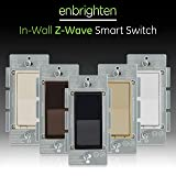 GE Enbrighten Z-Wave Plus Smart Light Switch, Compatible with Alexa, Google Assistant, SmartThings, Wink, Zwave Hub Required, Repeater/Range Extender, 3-Way Compatible, Black, 35542 (Color: Black, Tamaño: Switch)