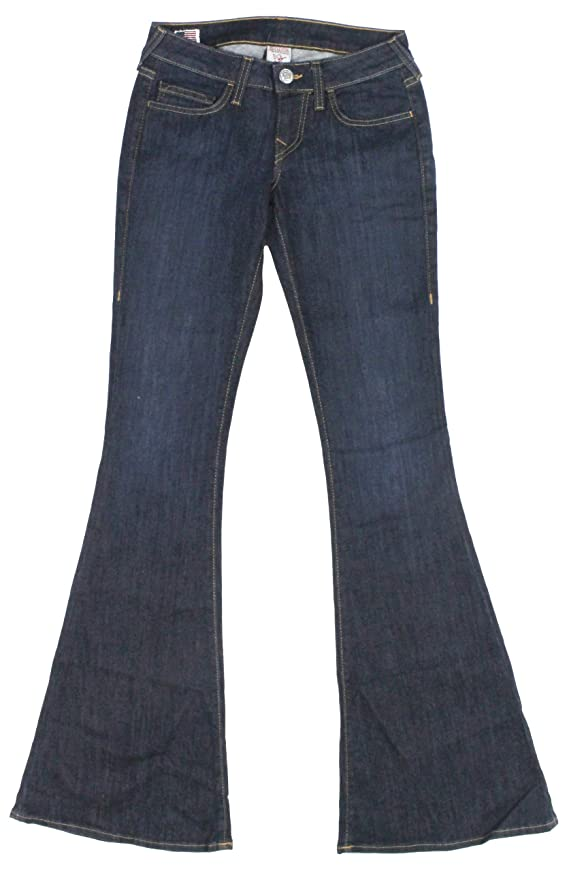 True Religion Women's Carrie Minimalist Flared Jeans
