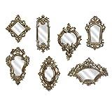 Imax 52977-7 Loletta Victorian Inspired Mirrors-Set of 7, Silver (Color: Silver, Tamaño: 9-12.75