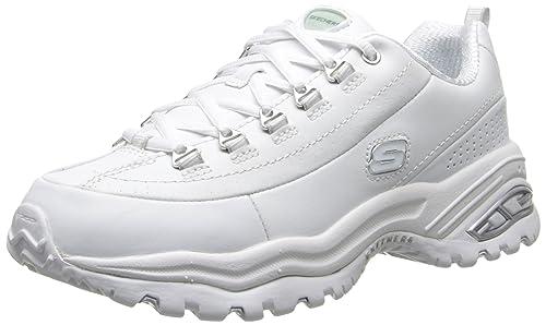 Skechers Sport Premium Femmes Blanc Large Chaussures Baskets de sport EU 38,5