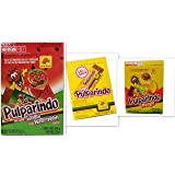 Pulparindo Tamarind Pulp Candy 3-Box Variety Bundle, includes 1-Box Hot & Salted + 1-Box Mango Flavor + 1-Box Watermelon (60 TOTAL CANDY PIECES WEIGHING 0.5 oz each)
