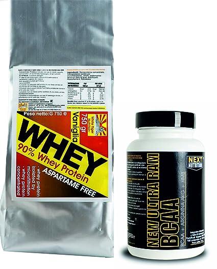 Kit besteht aus 2 ergänzt Whey Protein Isolate und Hydrolyzed 750 Gramm hohe biologische Wertigkeit , die reich an verzweigtkettigen Aminosäuren und essentiellen Kakaogeschmack , ohne Aspartam Mehr verzweigtkettigen Aminosäuren BCAA mit HMB