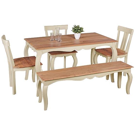 Tavolo da pranzo design vintage legno massiccio acacia/Mango 140x 80cm