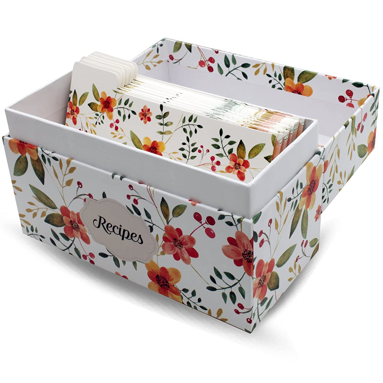 Vintage-Look Recipe Box Set With 50 Recipe Cards & 10 Blank Dividers | Holds Up To 200, 4x6 Cards | From Splendid Chef 4