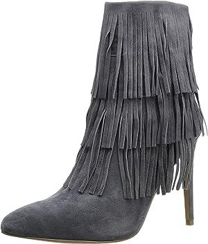 Steve Madden Women's Flappper Grey Suede Boot 5.5 M