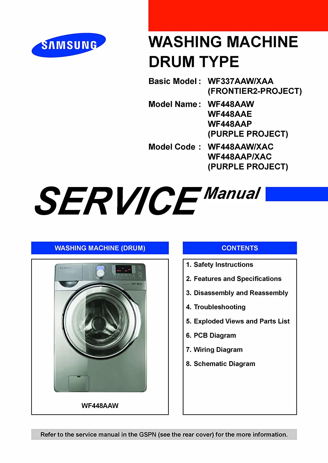 Downloads Samsung Wf448aaw Xaa Service Manual And Wf448aap Washing Machine Schematic Download