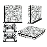 PS4 Designer Skin for Sony PlayStation 4 Console System plus Two(2) Decals for: PS4 Dualshock Controller - Big Ballin