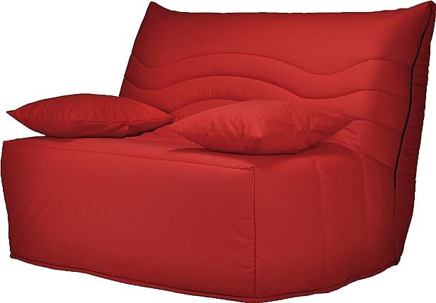 Divano Bz tessuto rosso Materasso 120X 200sofaconfort schiuma