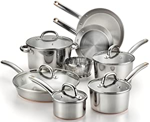 T-fal C836SD Ultimate Stainless Steel Copper-Bottom 13-Piece