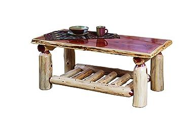 Rustic Red Cedar Log COFFEE TABLE