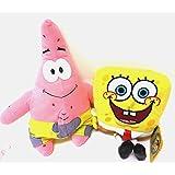 SpongeBob SquarePants and Patrick Star 2 Plush Doll Stuffed Toy (Tamaño: 13 inches)