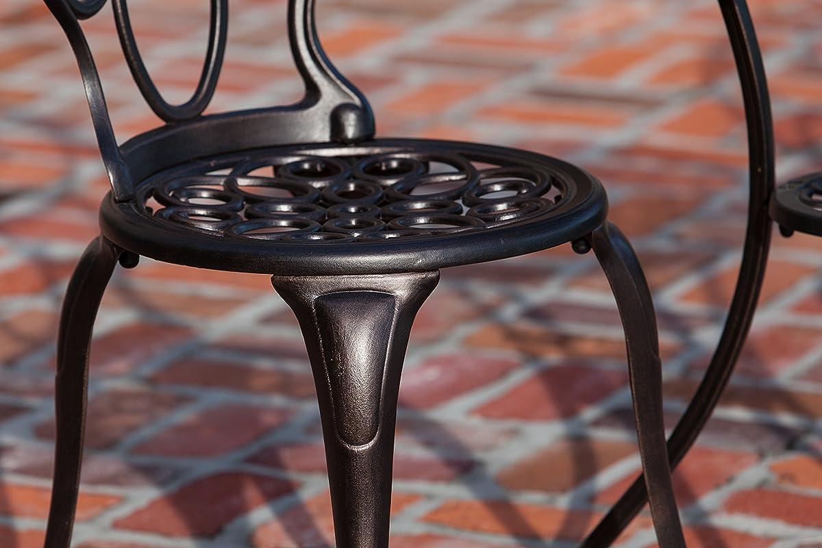 Patio Sense 3-Piece Antique Bronze Cast Aluminum Bistro Set