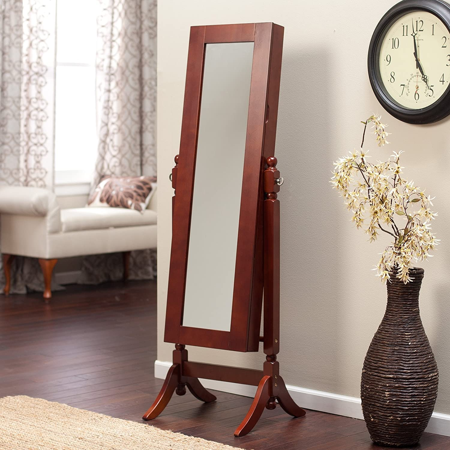 cheval mirror jewelry armoire. Black Bedroom Furniture Sets. Home Design Ideas